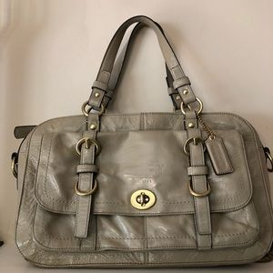 Coach Chelsea Beige Leather Satchel.